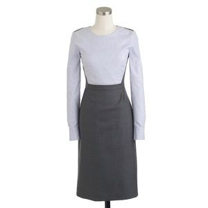 J Crew Clara Dress Long Sleeve Career Pin Stripe